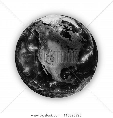 North America On Dark Planet Earth
