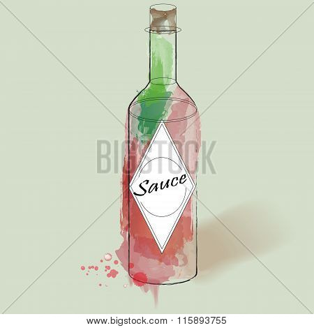 The Image Of The Bottle For Sauce