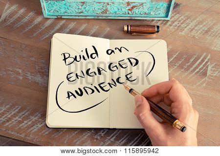 Handwritten Text Build An Engaged Audience