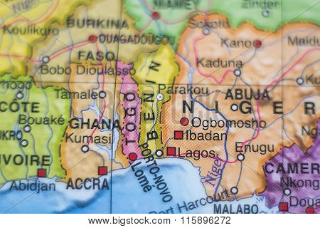 Togo Country Map .