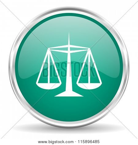 justice blue glossy circle web icon