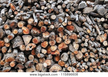 Background Of Wood Stacked