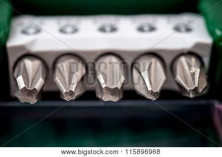 A set of screwdriver bits