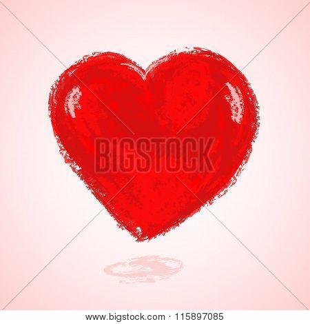 watercolor heart shape