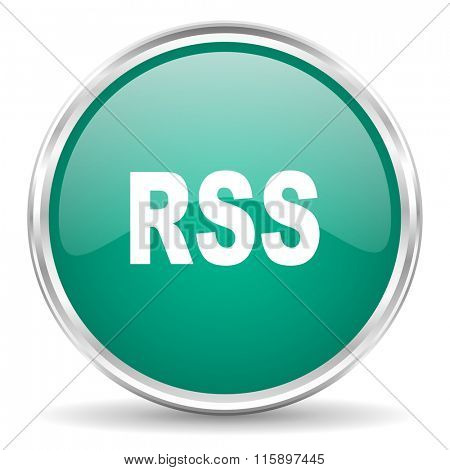 rss blue glossy circle web icon