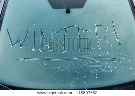 Frozen Car Window