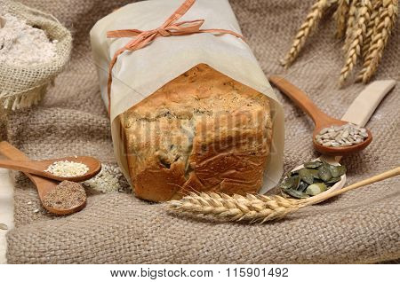 Tasty Bread With Healthy Seeds
