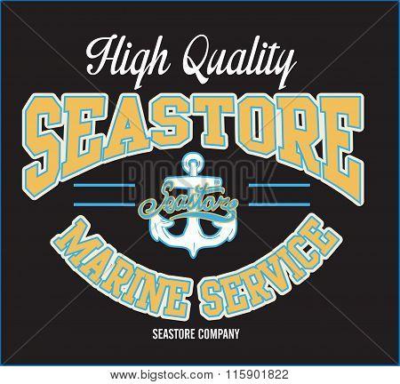 Vector Sea Store Print