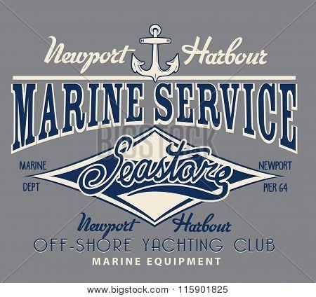 Vector Naval Sail Print