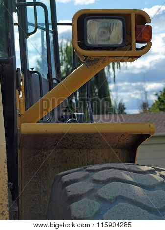 Closeup Details Of Heavy Duty Construction Equipment