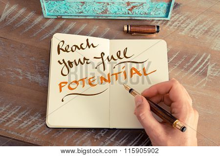 Handwritten Text Reach Your Full Potential