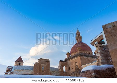 Ishak Pasha Palace winter ground. 19 January 2016 Dogubayazit - Agri - TURKEY