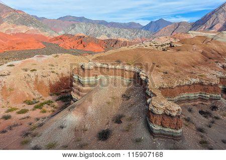 View Of Rock Formations In The Quebrada De Las Conchas, Argentina