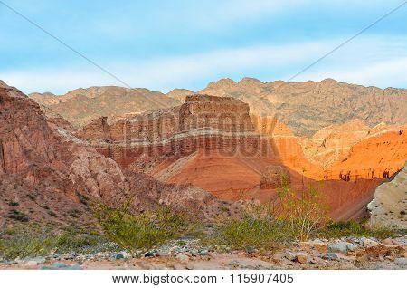 Colorful Sunset In The Quebrada De Las Conchas, Argentina