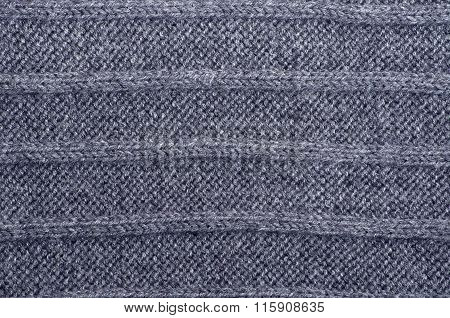 Gray Stripy Knit Background