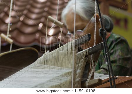 Weave Of Making Thai Silk