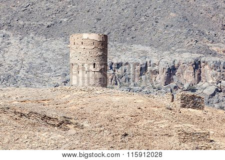 Old Watch Tower In Oman