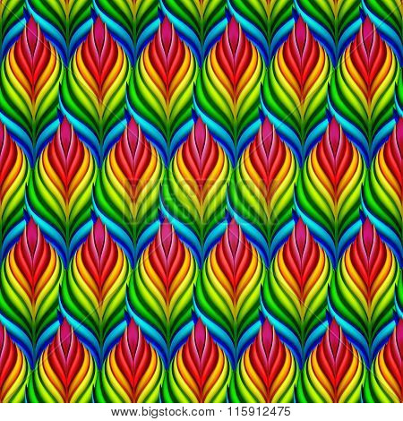 Seamless pattern with abstract leaves. Vector, EPS10.