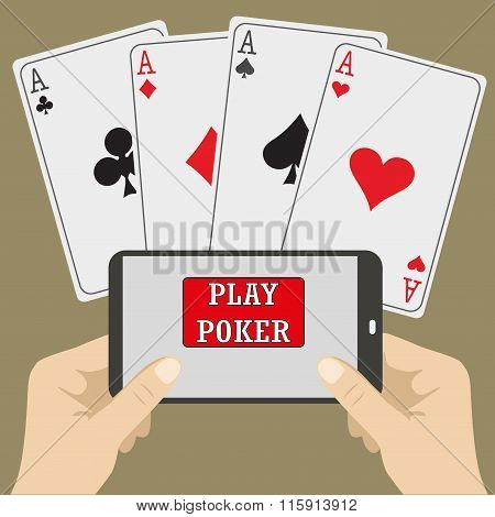 Smart Phone Gambling - Poker Aces