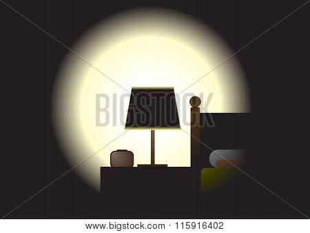 Dark Room - Night Time Bed