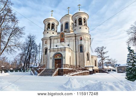Ascension Cathedral In Winter In Zvenigorod