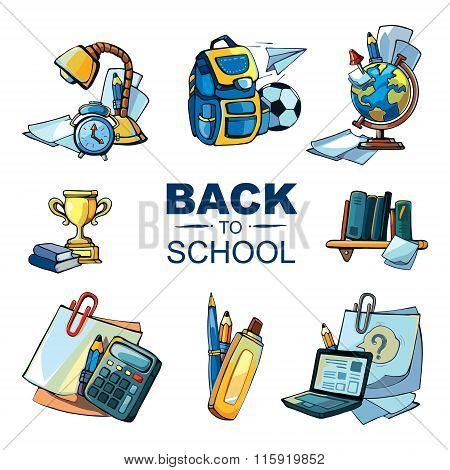 Back To School Icon Set