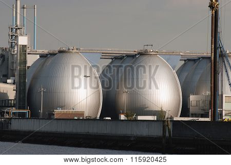Storage tanks in Oil Depot