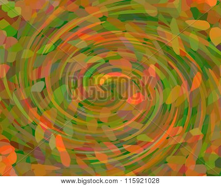 Abstract Background With Whirling Mosaic