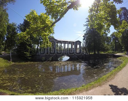 Marble (Palladian) Bridge or Siberian Marble gallery. Catherine Park. Pushkin. Petersburg