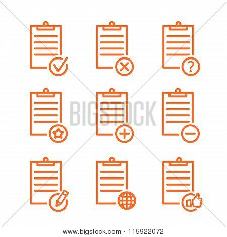 check list icons line design