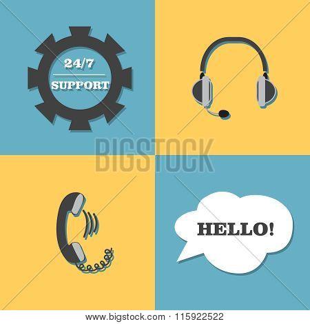 Vector support, call center set