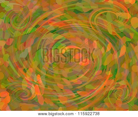 Abstract Background - Falling Leaves Concept