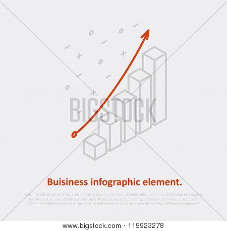 business infographic element isometric eps 10