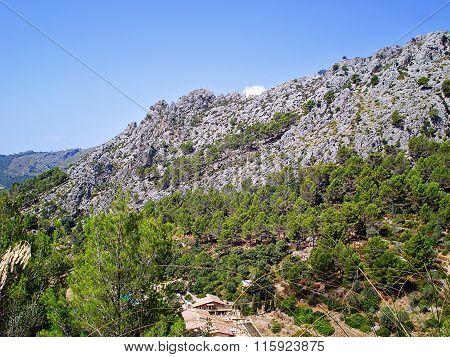 Mountains And Rocks In Galatzó Park Majorca