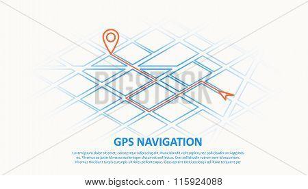 gps navigation thin line design