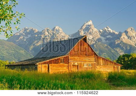 one of the two Mormon  Moulton Barns in the Teton National Park