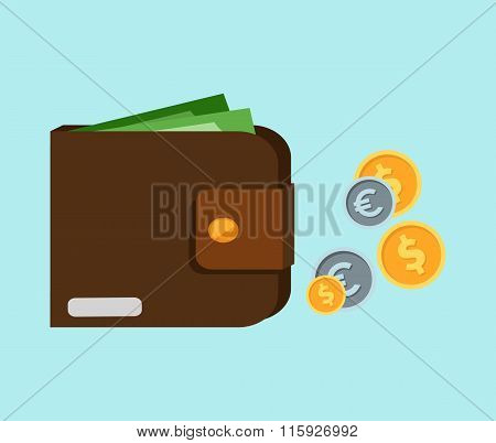 Wallet with Card and Cash