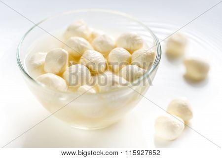 Bowl Of Bocconcini Mozzarella