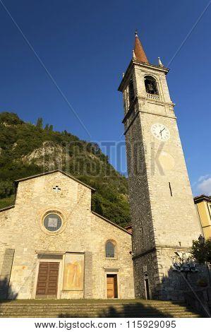 Church in Varenna resort, Como Lake, Italy, Europe