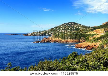 Esterel Mountains And Iles Des Vieilles, Saint Raphael, France
