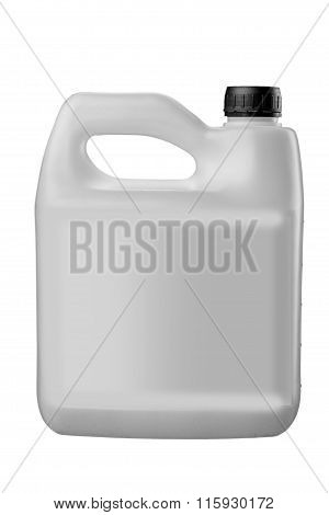 plastic jerrycan on white background.