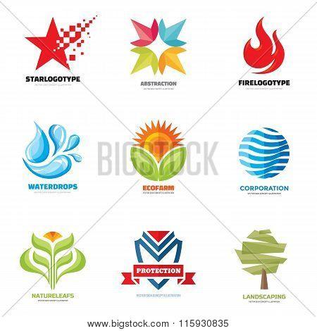 Logo vector set - creative illustrations. Logo collection. Vector logo design.