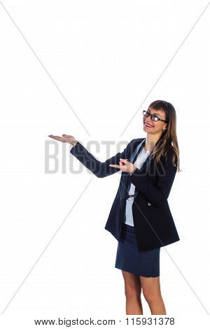 business woman in glasses