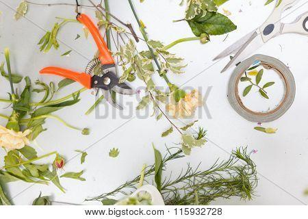 Florist Conceptual Photo. Workshop