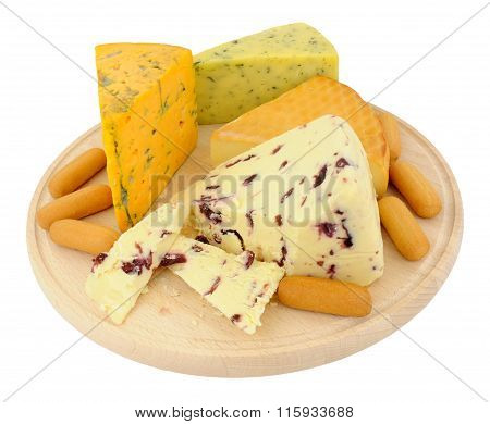 Cheese Board With Mixed Cheeses