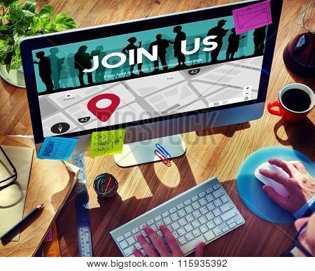 Join Us Application Company Hiring Concept