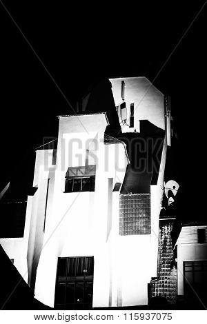 Chiaroscuro Style Modern Building Abstract