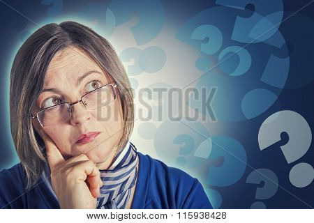 Portrait Of Woman Thinking
