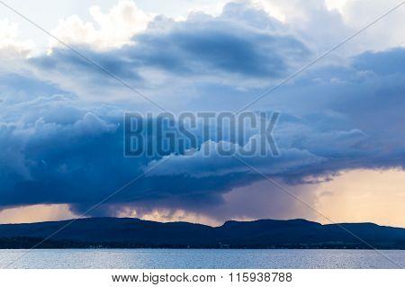 Dark Strom Cloud Over Mountain
