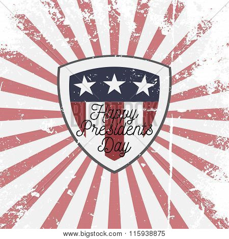 Happy Presidents Day vector Shield Sign